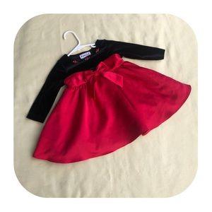 12M Rare Too red & black dress